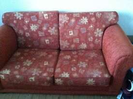 sofa bed large mat and roman blind all to match ex condition