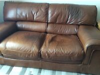 Free Three Seater Leather Sofa and Chair