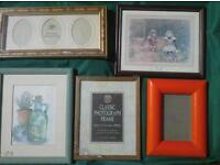 Five photo frames