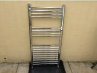 Chrome towel radiator measuring 500 x 1000.