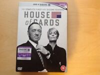 HOUSE OF CARDS DVD. SEASON 1&2