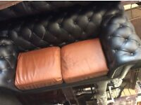 Reduced 2 x seater Chesterfield sofa