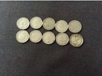 10 One Shilling Coins