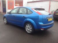 Ford Focus zetec lx 1.6 2005 plate only 70000 miles FSH MOT ONE YEAR 5 door metallic blue