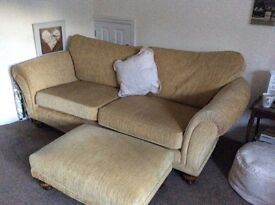 Matching 2/3 Seater Settee, Chair and Footstool.