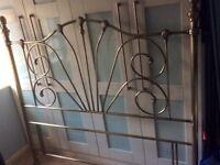 Kingsize Antique Brass Headboard