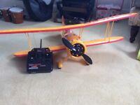 Radio controlled electric biplane