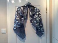 Silver/Blue N Shelley Shawl/Wrap