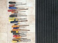 Tools screwdrivers chisels