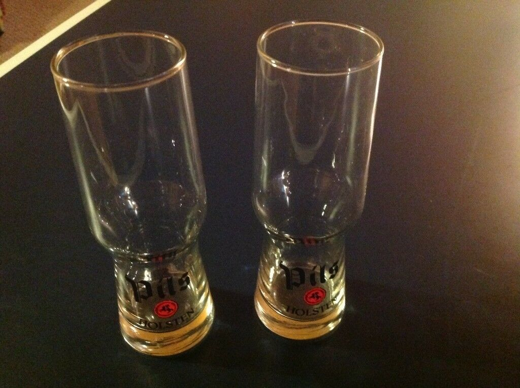 Rare Holsten Pils Lager Glasses