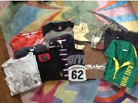 Bundle of men's t-shirts, all high street brands