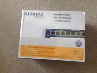 Net gear pro safe 8 port 10/100 desktop switch