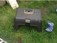 Curver tool box and caravan step up all in one.