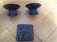 candle holders and coaster