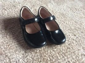 Lelli Kelly girls black leather childrens shoes size 27 f