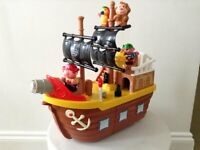Grow and Play Large Pirate Ship Playset with 4 figures - lights, sounds & music