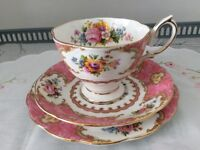 Royal Albert Bone China Trio. Lady Carlyle 1st Quality.