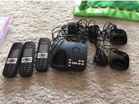 3 Panasonic handset answering phone set