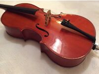 1/4 size cello Stentor Student 11 in beautiful condition
