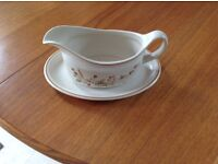 Harvest Gravy Boat and Butter Dish.