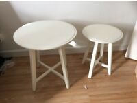 White Ikea Nest of table set of 2