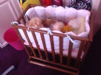 Child's wooden crib