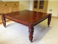 Mahogany large coffee table