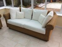 Conservatory furniture - 2 x Rattan 3 seater sofas