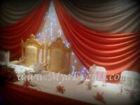 Royal Chair Rental £199 Nigerian Catering London £13pp Table Decoration £5pp Table Linen £9 Backdrop