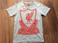 Liverpool FC Grey Adult XS T Shirt Brand New With Tags