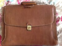Vintage French leather brief case