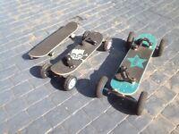 Skate board kite board