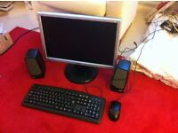 PC Monitor, Speakers, Mouse and Keyboard
