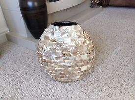 STUNNING ABALONE MOTHER OF PEARL SHELL VASE : WAYFAIR