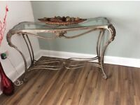 Wrought iron hall console table