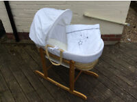Very pretty moses basket with stand £15 Maidstone