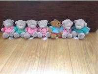 Seven brand new Tatty Teddy key rings