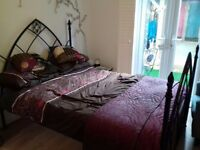 Double Bed: Good quality, heavy metal frame £100ono