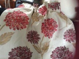 Beautiful silk curtains