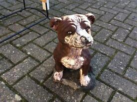 Concrete Garden Figure of a Staffordshire Dog