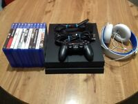 Sony PlayStation 4 – 500GB and controller, wires, game, headset. Great condition