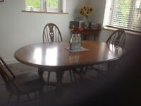 Ercol Woburn dining table & swan back chairs