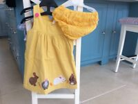 Boden pinafore dress with matching knickers