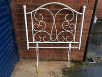 Used but very good condition white metal headboard