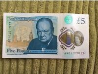 Brand new £5 Note * cheapest on Gumtree *