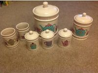 Cream kitchen canister set