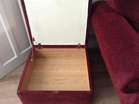 Suite three seater two seater chair and footstool