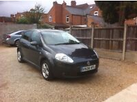FIAT PUNTO 2008 Auto 67597 Petrol Grey 1.4 Dynamic Sport 5dr, AUTOMATIC, MOT WITH FULLY SERVICE