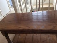 Solid oak coffee table in immaculate condition