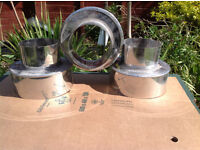 Flue adaptor Stainless steel 6.5''to 4''